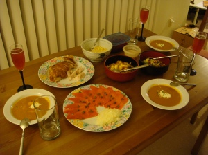 2008 thanksgiving dinner for 3