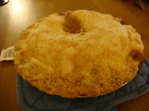 store-bought apple pie from Andronico's
