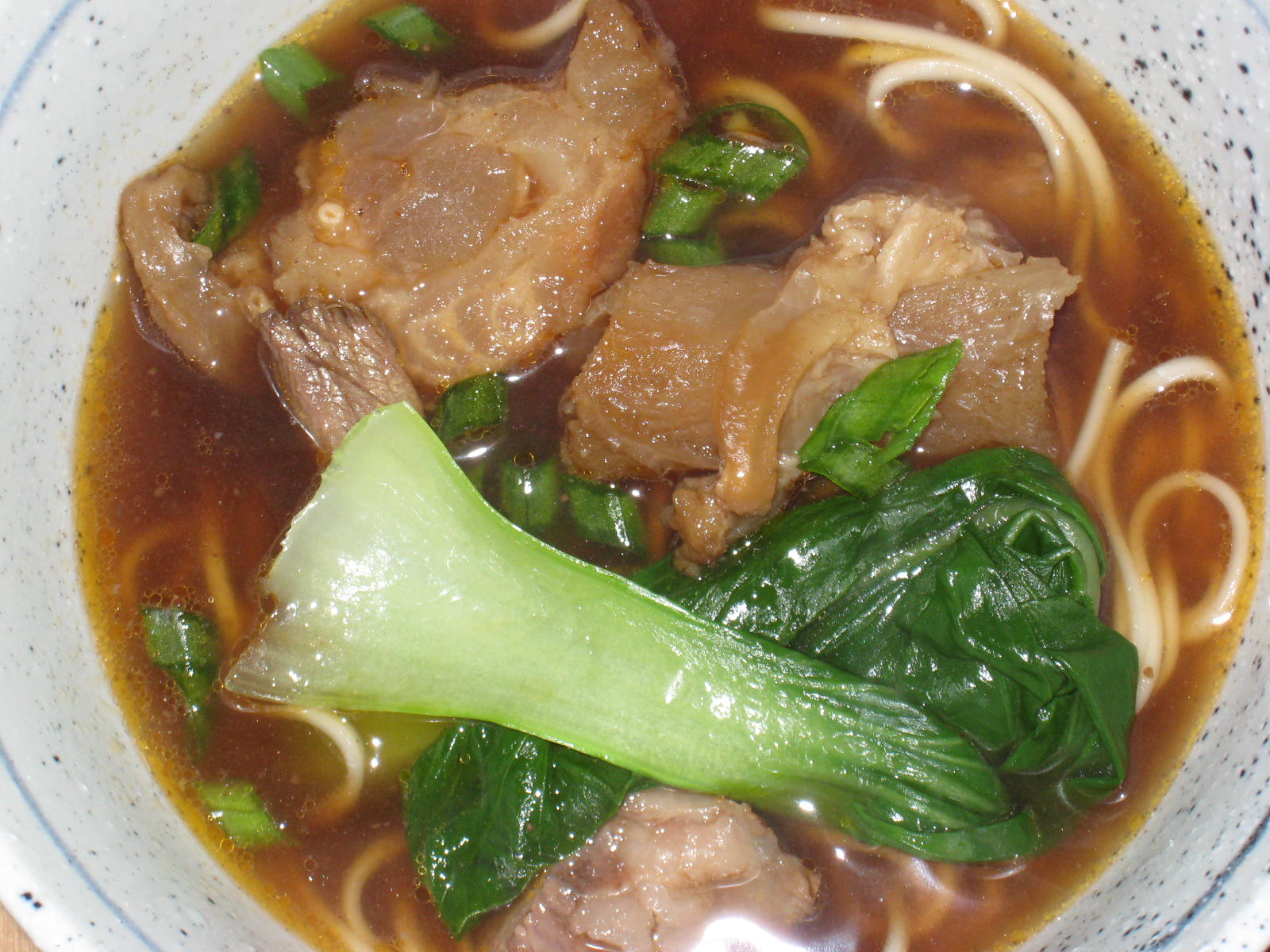 Taiwanese beef noodle soup (紅燒牛肉麵)